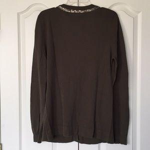 BKE Sweaters - BKE olive green cardigan